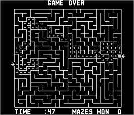 Game Over Screen for Amazing Maze.