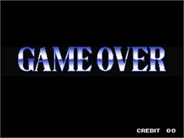 Game Over Screen for Andro Dunos.