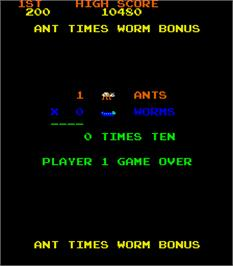 Game Over Screen for Anteater.