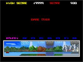 Game Over Screen for Aqua Jack.