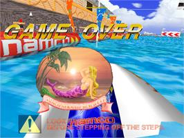 Game Over Screen for Aqua Jet.