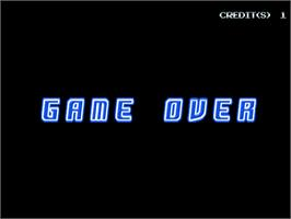 Game Over Screen for Aqua Rush.