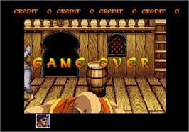 Game Over Screen for Arabian Fight.