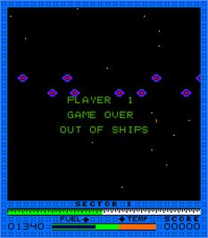 Game Over Screen for Astro Blaster.