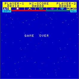 Game Over Screen for Astro Fighter.