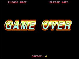 Game Over Screen for Asura Buster - Eternal Warriors.