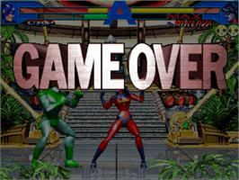 Game Over Screen for Avengers In Galactic Storm.