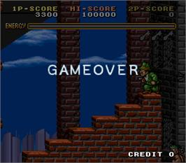 Game Over Screen for Avenging Spirit.