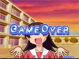 Game Over Screen for Azumanga Daioh Puzzle Bobble.