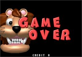 Game Over Screen for Baku Baku Animal.