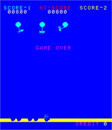 Game Over Screen for Balloon Bomber.