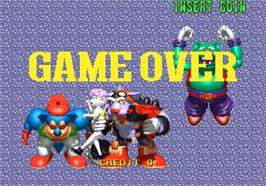 Game Over Screen for Bang Bang Ball.
