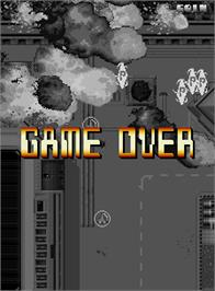 Game Over Screen for Baryon - Future Assault.