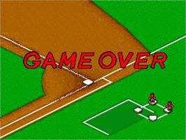 Game Over Screen for Baseball Stars Professional.