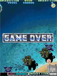 Game Over Screen for Batsugun - Special Version.