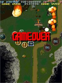 Game Over Screen for Battle Garegga - New Version.