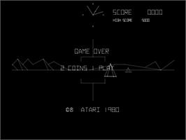 Game Over Screen for Battle Zone.