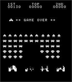 Game Over Screen for Beam Invader.