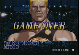 Game Over Screen for Best Bout Boxing.