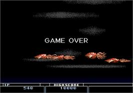 Game Over Screen for Bio-hazard Battle.