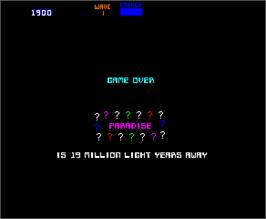 Game Over Screen for Blaster.