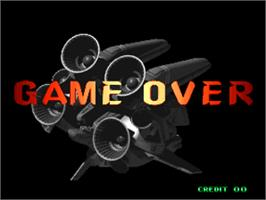 Game Over Screen for Blazing Star.