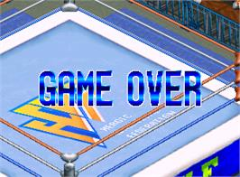 Game Over Screen for Blazing Tornado.