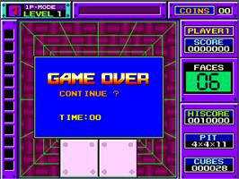Game Over Screen for Block Out.