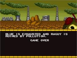 Game Over Screen for Blue's Journey / Raguy.