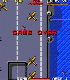 Game Over Screen for Bombs Away.