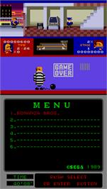 Game Over Screen for Bonanza Bros..