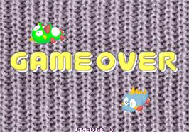 Game Over Screen for Bubble Memories: The Story Of Bubble Bobble III.