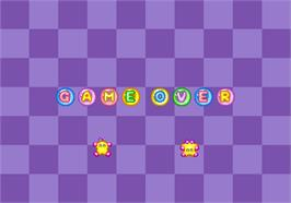 Game Over Screen for Bubble Symphony.