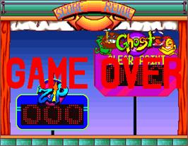 Game Over Screen for Bubble Trouble.