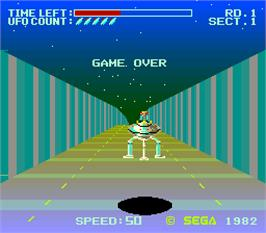 Game Over Screen for Buck Rogers: Planet of Zoom.