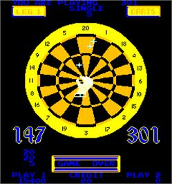 Game Over Screen for Bulls Eye Darts.