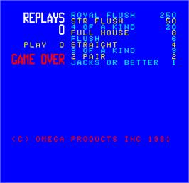 Game Over Screen for Cal Omega - Game 7.6.