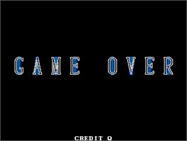 Game Over Screen for Cannon Dancer.