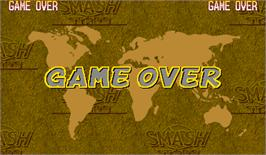 Game Over Screen for Capcom Sports Club.