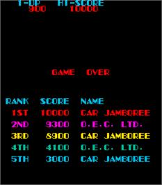 Game Over Screen for Car Jamboree.