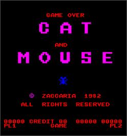 Game Over Screen for Cat and Mouse.