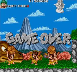 Game Over Screen for Caveman Ninja.