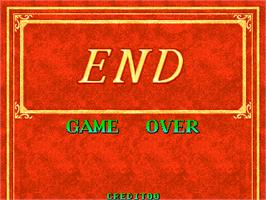 Game Over Screen for Chain Reaction.