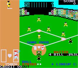 Game Over Screen for Champion Base Ball.