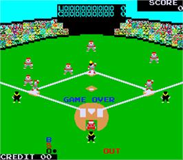 Game Over Screen for Champion Base Ball Part-2: Pair Play.