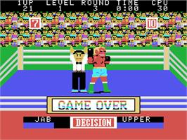 Game Over Screen for Champion Boxing.