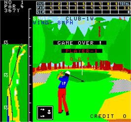 Game Over Screen for Champion Golf.