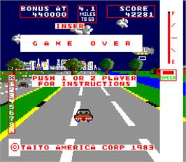 Game Over Screen for Change Lanes.