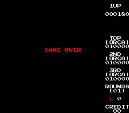Game Over Screen for Changes.