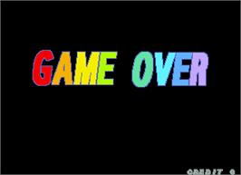 Game Over Screen for Chase Bombers.